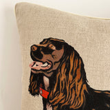 brown cocker spaniel portrait contemporary cushion detail