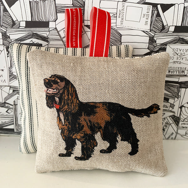 brown cocker spaniel lavender bag