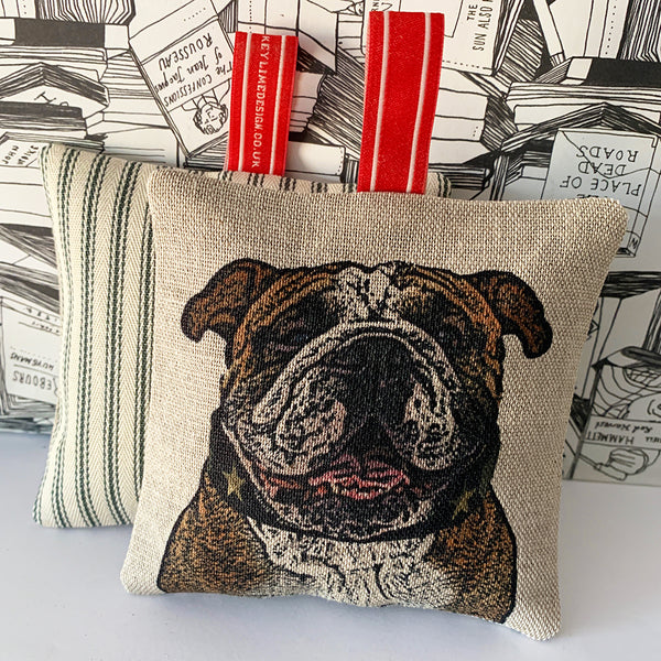 british bulldog lavender bag