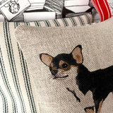 Chihuahua lavender bag - black and tan