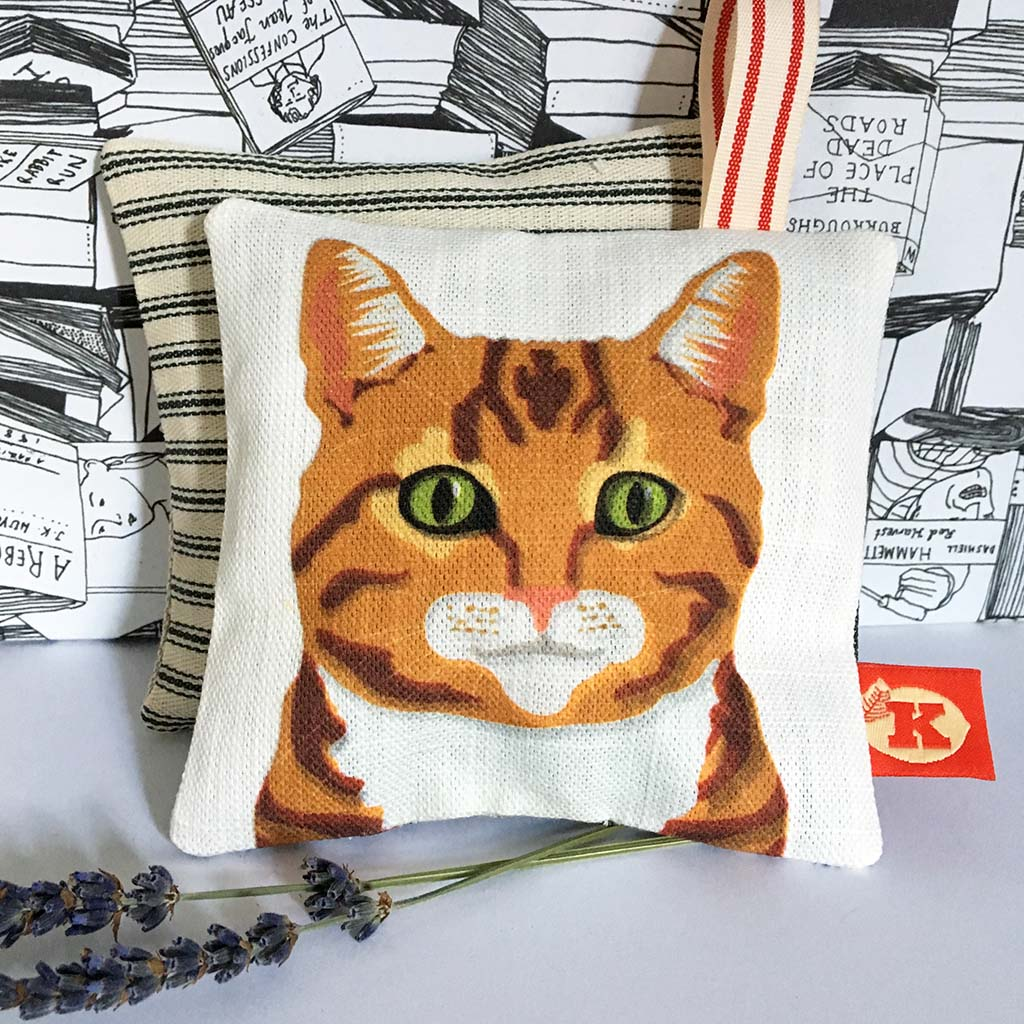 Marmalade cat lavender bag