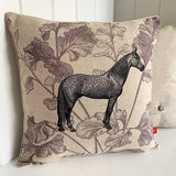 dapple grey horse cushion