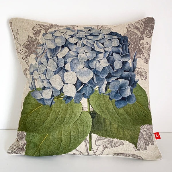 blue hydrangea cushion