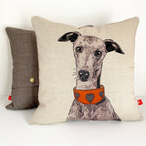 italian greyhound illustration on a cushion