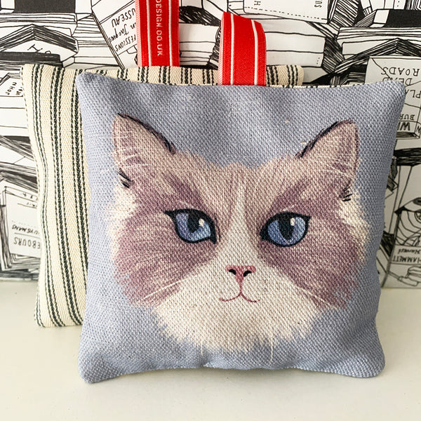 ragdoll cat lavender bag