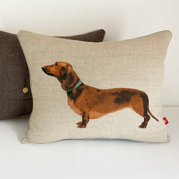 red dachshund cushion