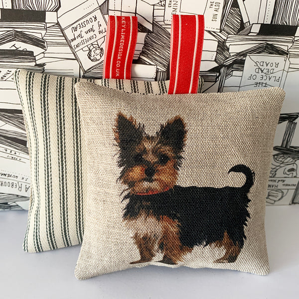 yorkshire terrier lavender bag