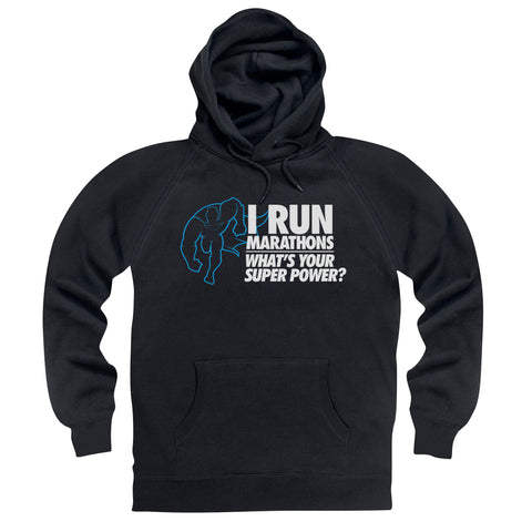 Running Marathons Super Power Hoodie