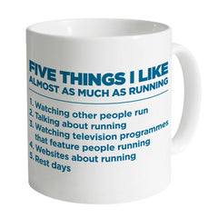 Five Things I Like - Running Mug