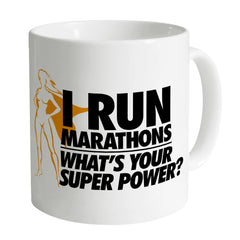 Running Marathons Super Woman Mug