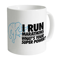 Running Marathons Super Power Mug
