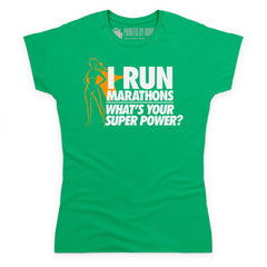 Running Marathons Super Woman T Shirt