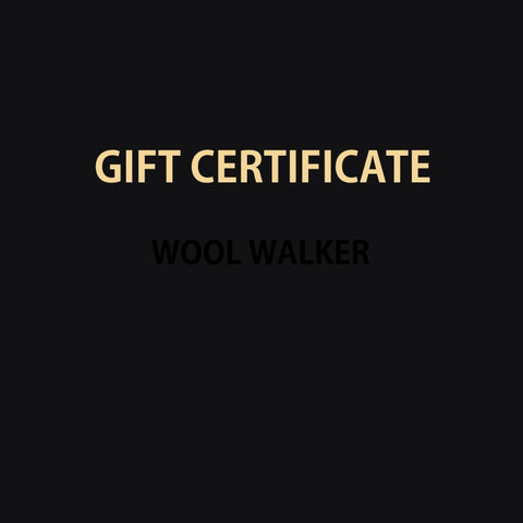 Wool Walker Gift Card, Gift Certificate, Felt Slippers, Women's Slippers, Men's Slippers