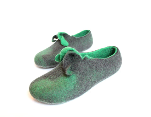 Mens Mustache Wool Slippers