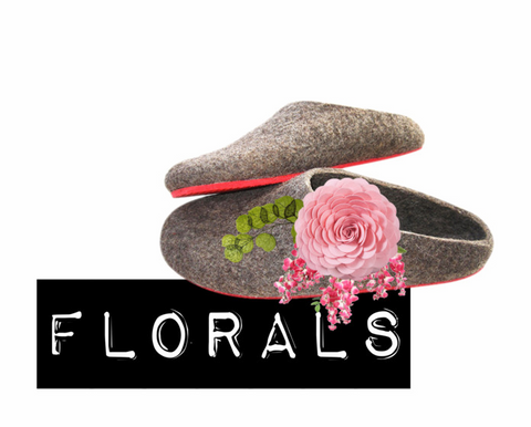 Floral Wool Clogs