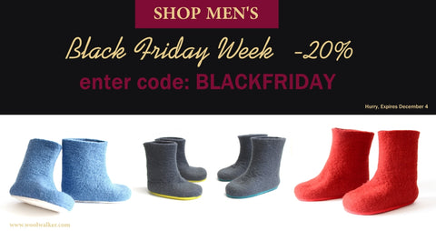 Wool walker black friday sale kids wool booties