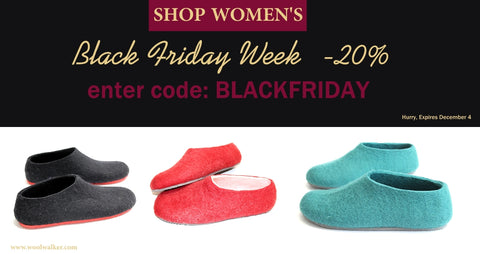 woolwalker black friday sale womens felt slippers_cold feet