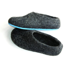 Create Your Custom Felt Slippers. 7 Shades of Grey. Unisex - Wool Walker  - 4