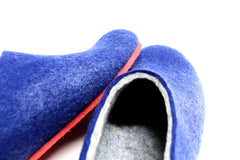 Womens Felted Slippers Nautical with Colour Sole - Wool Walker  - 3