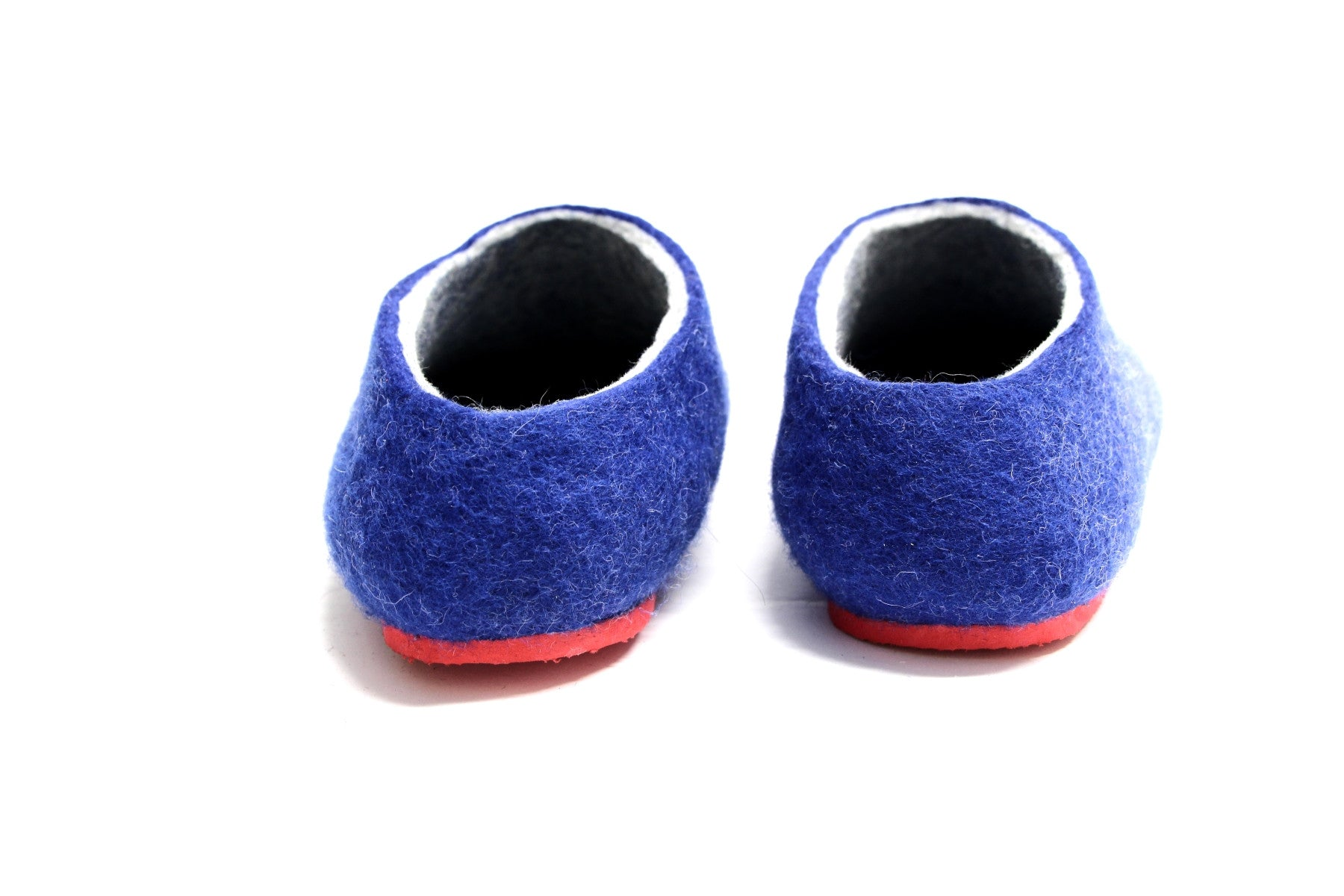 abd22febe9b Womens Felted Slippers Nautical with Colour Sole - Wool Walker - 2