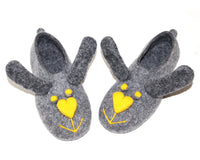 Womens Felt Bunny Slippers Indoors - Wool Walker  - 1