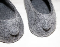 Womens Felt Bunny Slippers Indoors - Wool Walker  - 5