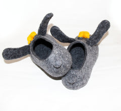 Womens Felt Bunny Slippers Indoors - Wool Walker  - 2