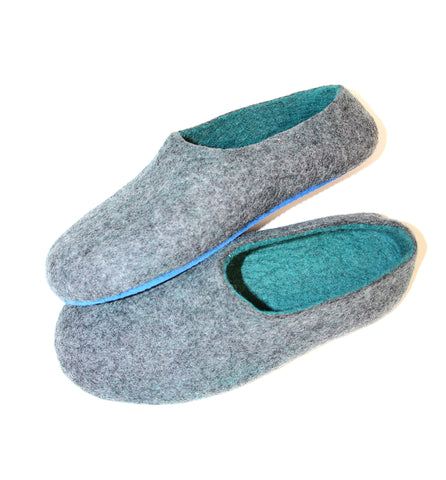 Custom Felt Slippers. Upper Grey with 49 Color Trends For Interior. Unisex