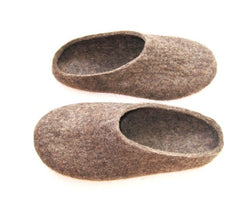 Womens Eco Friendly Felt Slippers With Rubber Sole - Wool Walker  - 3