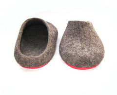 Womens Eco Friendly Felt Slippers With Rubber Sole - Wool Walker  - 4