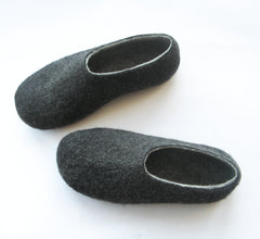 Mens Indoor Felted Slippers Charcoal - Wool Walker  - 4