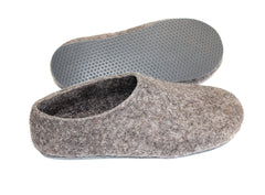 Womens Eco Friendly Felted Slippers Color Rubber Sole - Wool Walker  - 2