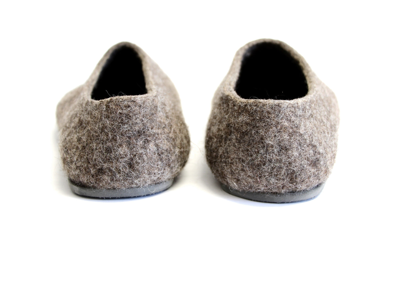 Womens Eco Friendly Felted Slippers Color Rubber Sole - Wool Walker  - 3