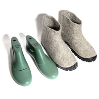 Men Snow Wool Felt Ankle Boots Beige Eco Friendly