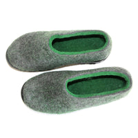 Mens Ethical Wool Felt Boots Green Woods