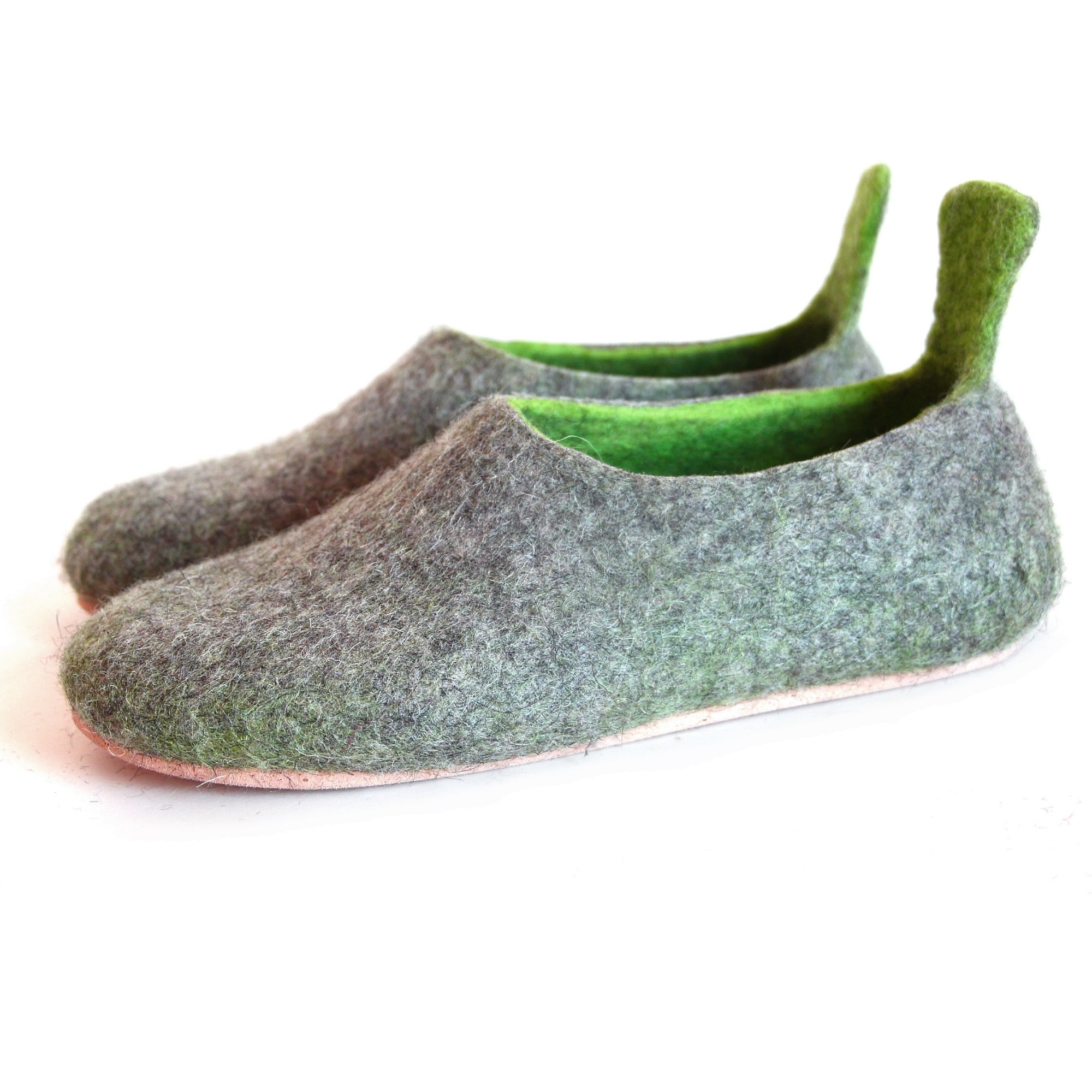 Women Felted House Shoes Green Amazon