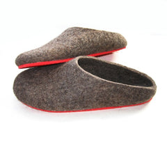 Womens Eco Friendly Felt Slippers With Rubber Sole - Wool Walker  - 1
