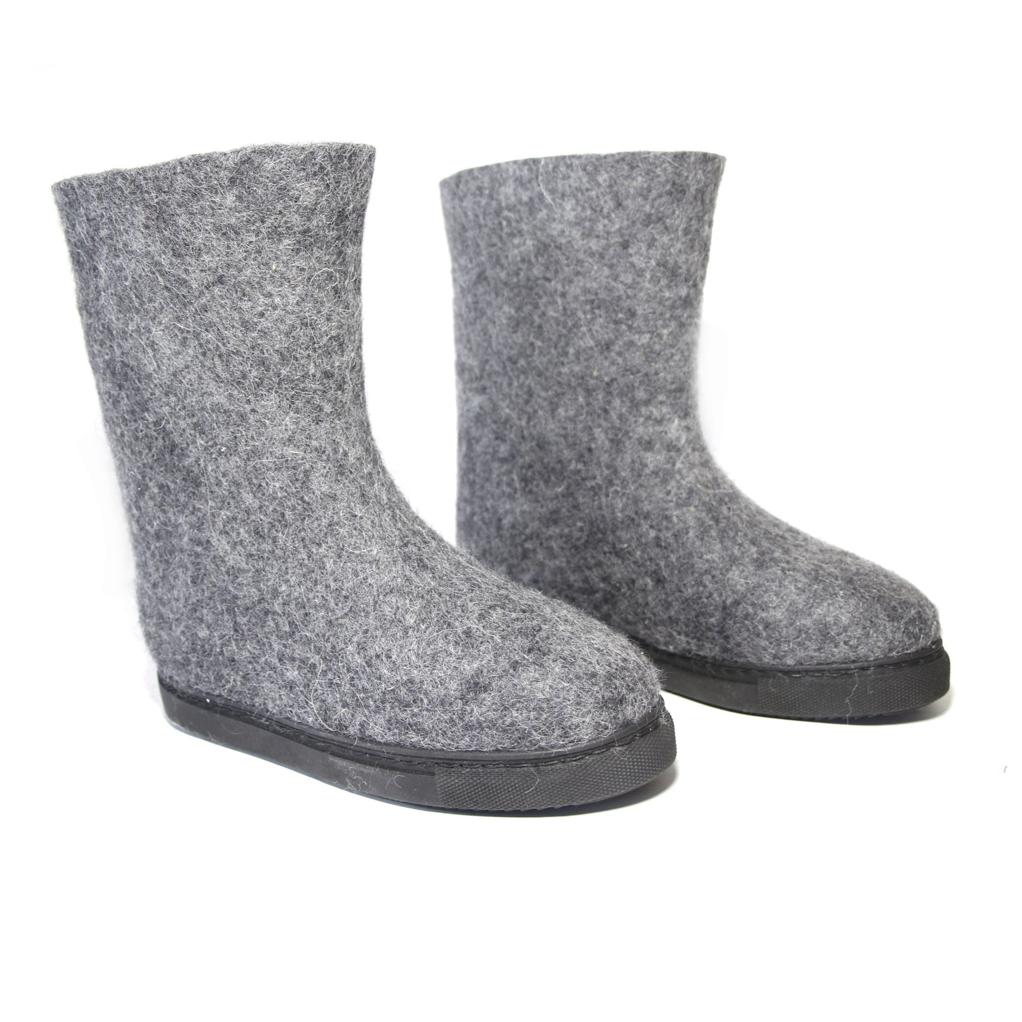 Women Eco Friendly Wool Felt Boots Gray