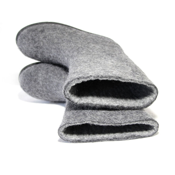 Women Eco Friendly Wool Felt Boots Gray Winter