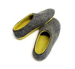 Custom Felt Slippers. Upper Grey with 49 Color Trends For Interior. Unisex - Wool Walker  - 56