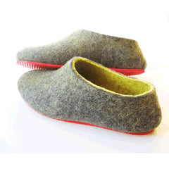Custom Felt Slippers. Upper Grey with 49 Color Trends For Interior. Unisex - Wool Walker  - 25