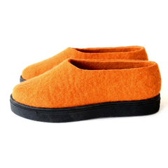 Felted Wool Shoes Tangerine Dream