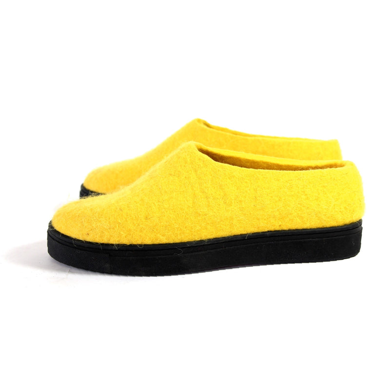 Wool Felt Shoes Citrus Yellow