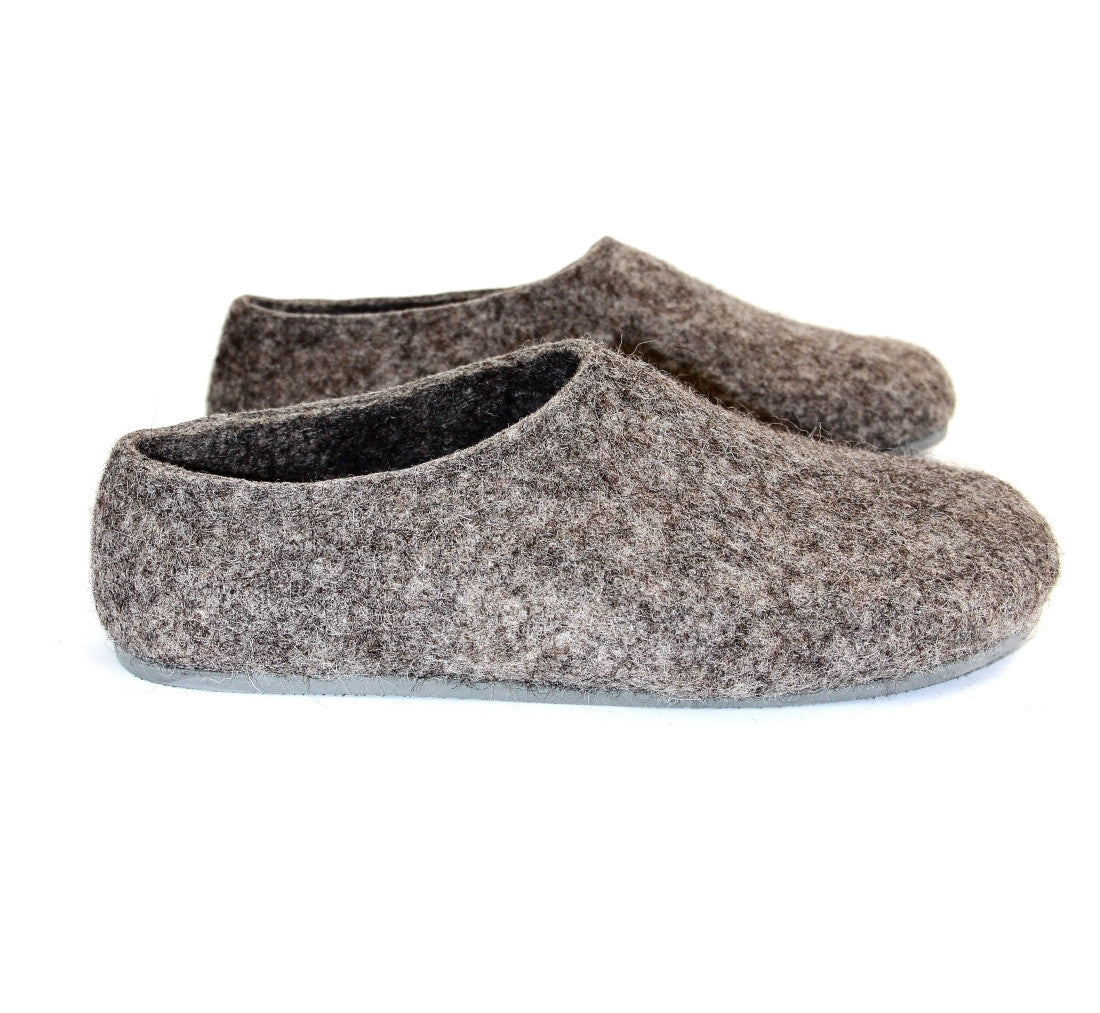 10519225d45a0 Womens Eco Friendly Felted Slippers Color Rubber Sole – Wool Walker