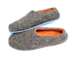 Custom Felt Slippers. Upper Grey with 49 Color Trends For Interior. Unisex - Wool Walker  - 60