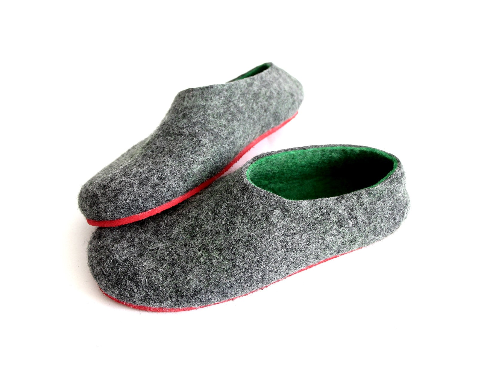 Custom Felt Slippers. Upper Grey with 49 Color Trends For Interior. Unisex - Wool Walker  - 58