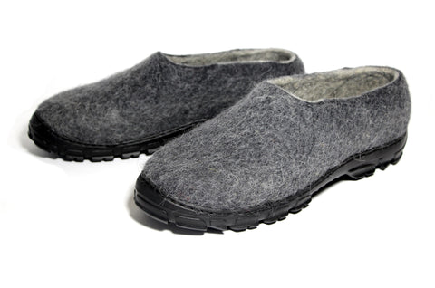 Men's Eco Friendly Wool Shoes Moccasins Charcoal