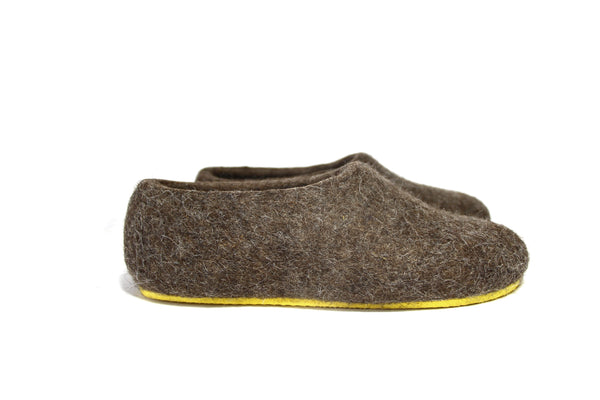 Women Eco Wool House Shoes Nordic Brown  are handmade using 100% organic cruelty free wool.