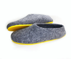 Create Your Custom Felt Slippers. 7 Shades of Grey. Unisex - Wool Walker  - 2