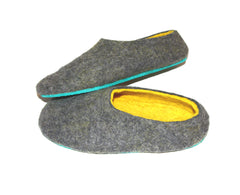 Custom Felt Slippers. Upper Grey with 49 Color Trends For Interior. Unisex - Wool Walker  - 59